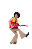 Male guitar player Royalty Free Stock Photos