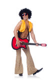 Male guitar player Stock Image