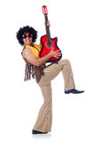 Male guitar player Royalty Free Stock Images