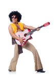 Male guitar player Stock Photos