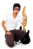 Male guitarist Stock Images