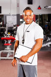 Male gym instructor Royalty Free Stock Image