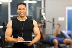 Male gym instructor Stock Images