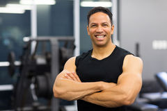 Male gym trainer Royalty Free Stock Photos