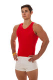 Male Gymnast Royalty Free Stock Photography