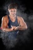 Male Gymnast Stock Photography