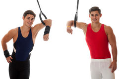 Male gymnaster Royaltyfri Bild