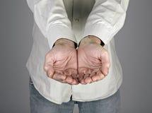 Male händer Arkivfoto