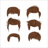 Male hair styles design. Male hair styles head icon. salon and fashion theme. Colorful and isolated design. Vector illustration Royalty Free Stock Photography