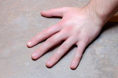 Male hand Royaltyfri Fotografi