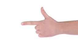 Male hand as a gun. Stock Photo