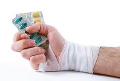 Male hand with  bandage Stock Image
