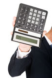 Male hand with calculator Royalty Free Stock Photography