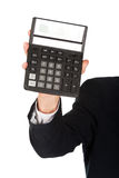 Male hand with calculator Royalty Free Stock Photo