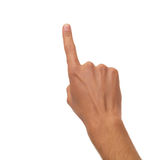 Male hand counting - one finger Stock Photos