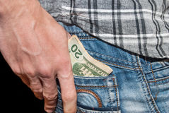 Male hand with dollars Royalty Free Stock Photos
