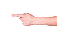 Male hand in a form of a gun Royalty Free Stock Photography