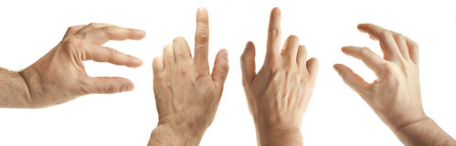 Male hand gestures Royalty Free Stock Photography