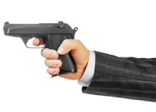 Male hand with gun Royalty Free Stock Image