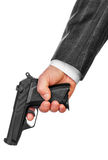 Male hand with gun Royalty Free Stock Images