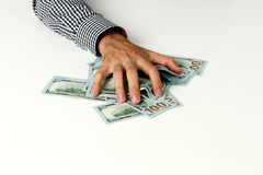 Male hand hold dollars Royalty Free Stock Photo