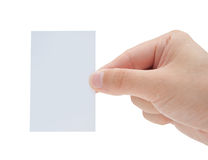 Male Hand Holding Blank Card Royalty Free Stock Images