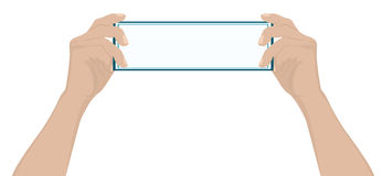 Male hand holding a blank card Royalty Free Stock Images