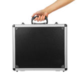 Male hand holding briefcase Stock Photography