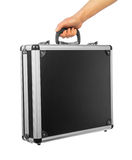 Male hand holding briefcase Royalty Free Stock Photography