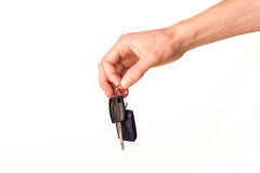 Male hand holding a car key Stock Photography