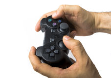 Male Hand Holding Controller Royalty Free Stock Photos