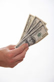 Male hand holding dollars Stock Photography
