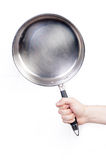 Male Hand holding frying pan Stock Photos