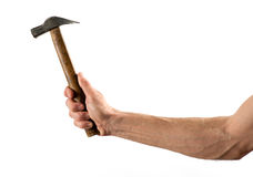 Male Hand Holding Hammer Royalty Free Stock Photography