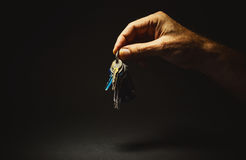 Male Hand Holding a Keys Royalty Free Stock Photography