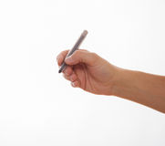 Male hand holding a marker stock image