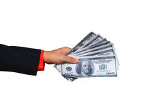 Male hand holding money Stock Photography
