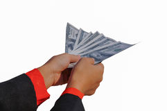 Male hand holding money Royalty Free Stock Photo