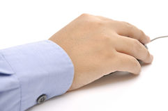 Hand Holding A Mouse Royalty Free Stock Images