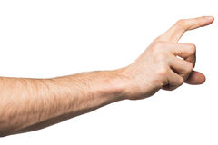 Male hand holding paper card Stock Photography