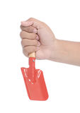 Male hand holding a shovel Stock Photography