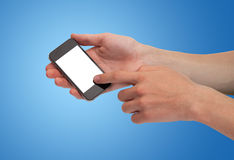 A male hand holding a smartphone Royalty Free Stock Image