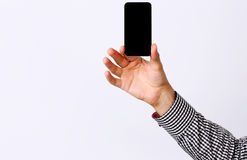 Male hand holding smartphone Royalty Free Stock Photo