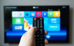 Smart TV. royalty free stock images
