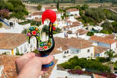 Barcelos Rooster. Obidos, Portugal Stock Photography