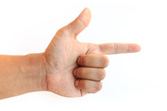 Male hand isolated on white background Stock Photography