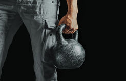 Male hand with kettlebell Royalty Free Stock Photos