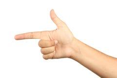 Male hand making a gun gesture Stock Photos