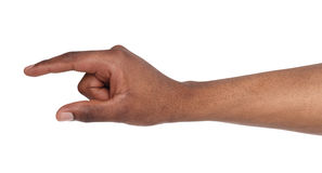 Male hand measuring something, cutout, gesture Royalty Free Stock Photos