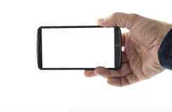 Male hand with mobile phone Stock Photography